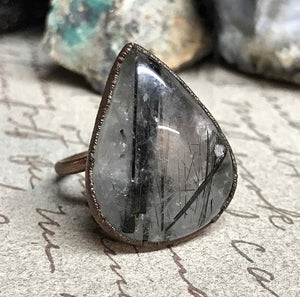 Rutilated Quartz Ring - Serpent + Sage