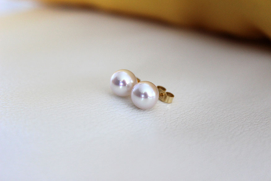 18ct Pearl Stud Earrings