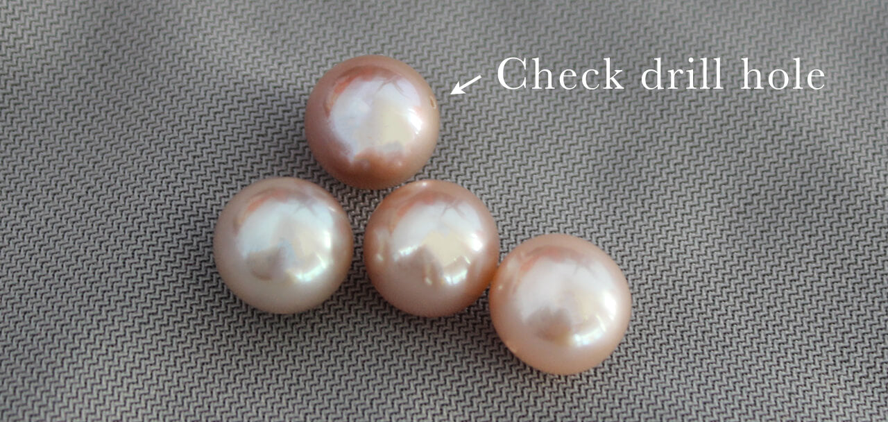 Identify Real Pearls Check Drill Holes