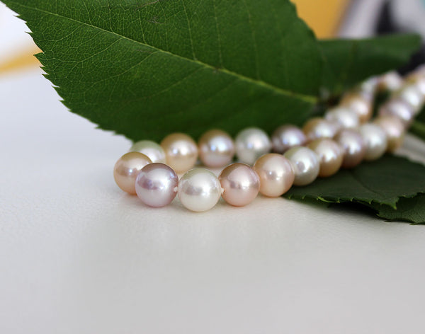 Freshwater Pearl Necklace with Natural Colours