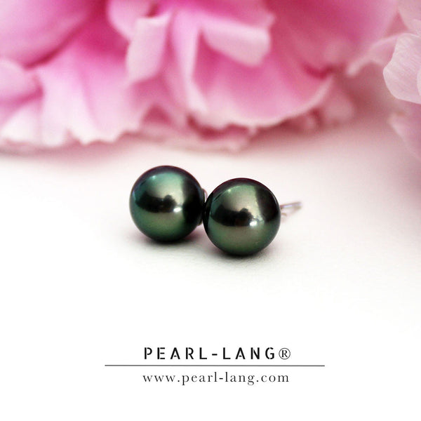 Luxury Peacock Tahitian Pearl Earrings