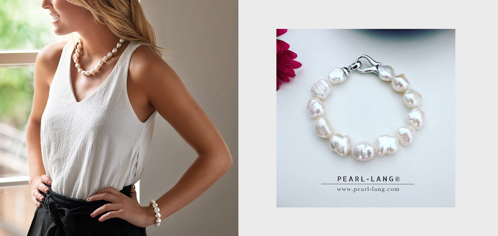 Unique Birthday Gifts For Her Keshi Pearl Bracelet