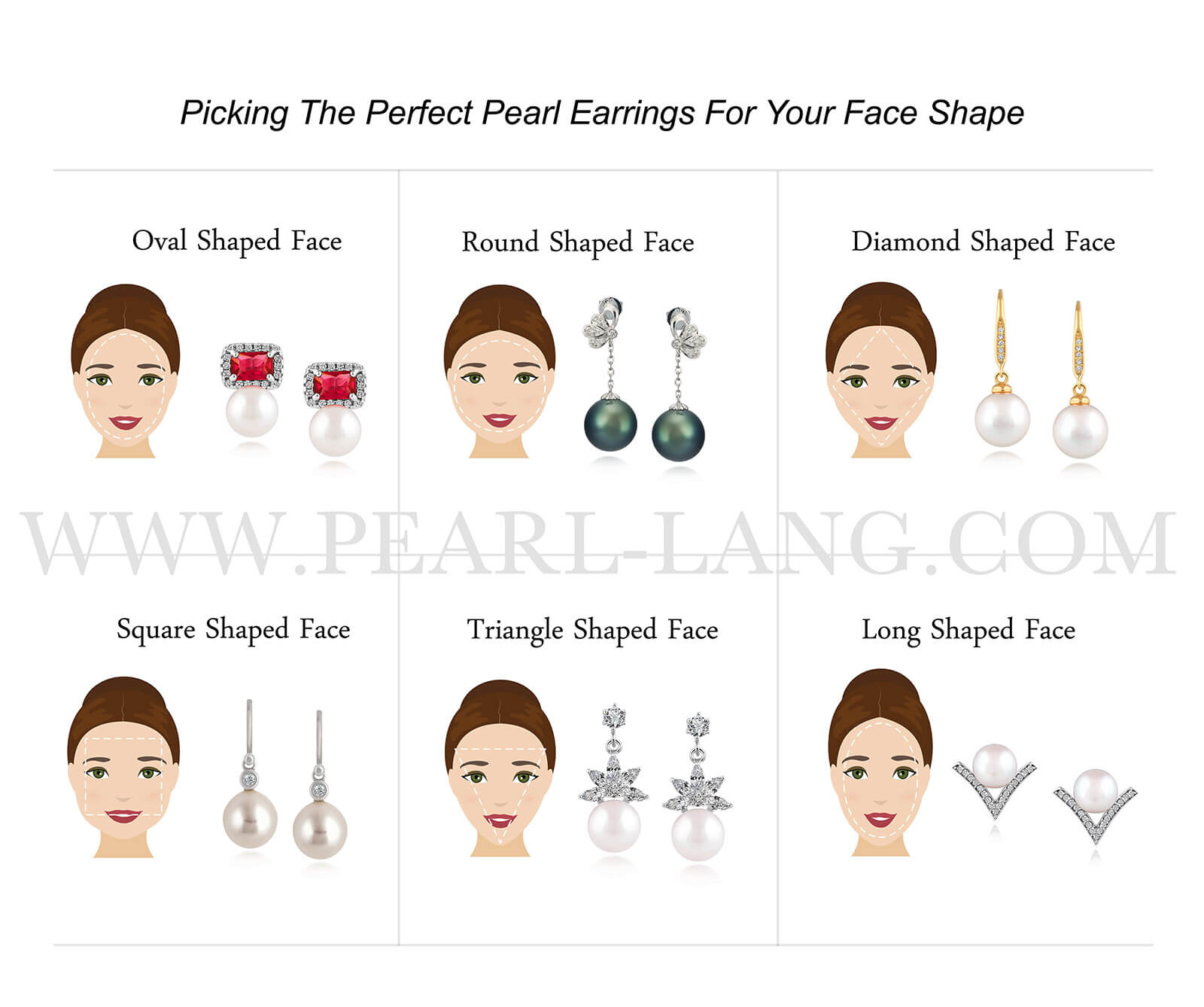 Picking the Perfect Pearl Earrings For Your Face Shape