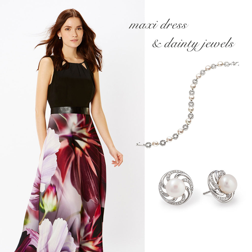 Maxi Dress & Dainty Jewels