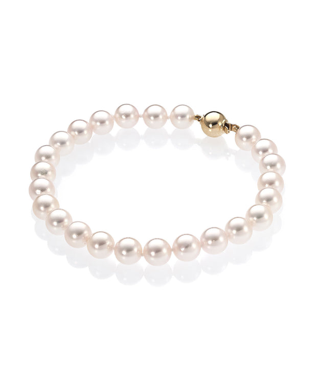 Exquisite 18ct Gold Akoya Pearl Bracelet