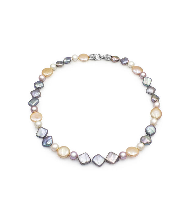 astral trio freshwater pearl necklace sterling silver