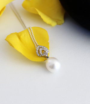 Athena Freshwater Drop Pearl Pendant Necklace
