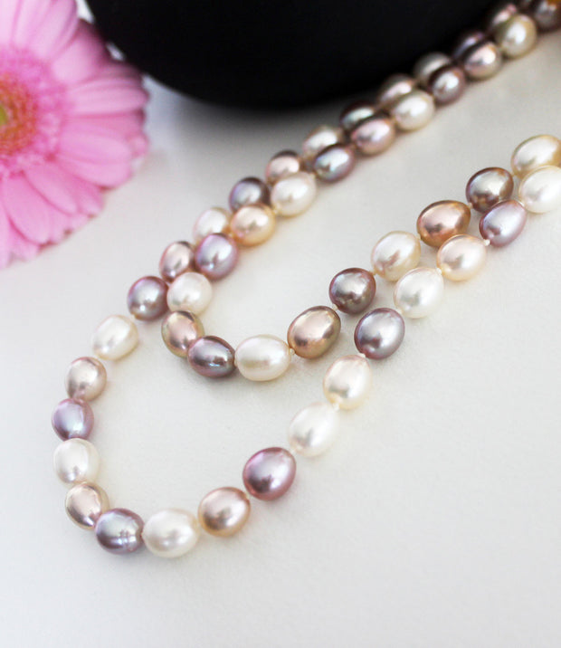 Athena Multi-Coloured Long Pearl Necklace