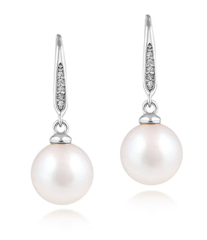 Bella Sterling Silver Pearl Drop Earrings