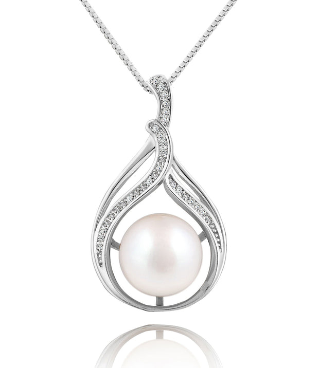Bella Sterling Silver Pearl Pendant Necklace