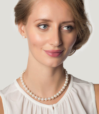 Pearl Choker Necklace Sterling Silver Freshwater