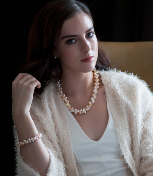 Chunky Flora Baroque Pearl Necklace