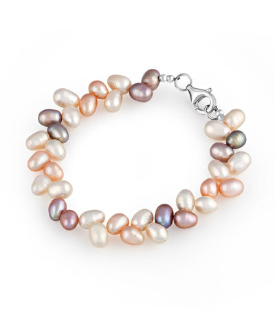 Leaf Multi-coloured Pearl Bracelet