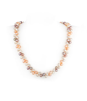 Leaf Multi-coloured Pearl Necklace