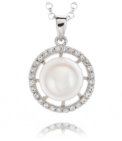 Luna Freshwater Pearl Pendant Necklace