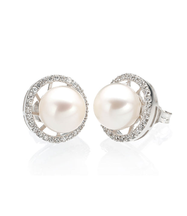 Luna Freshwater Pearl Stud Earrings