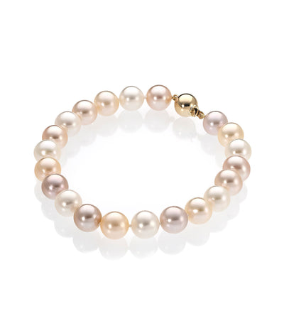 18ct Gold Multi-Coloured Freshwater Pearl Bracelet