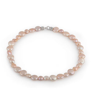 Metropolis Peach Coin Pearl Necklace
