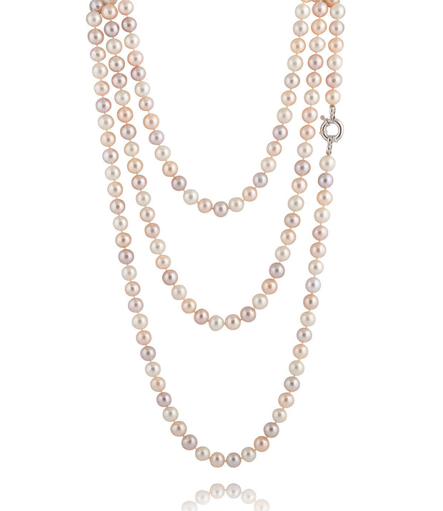 Muse Multi-Coloured Long Freshwater Pearl Strand