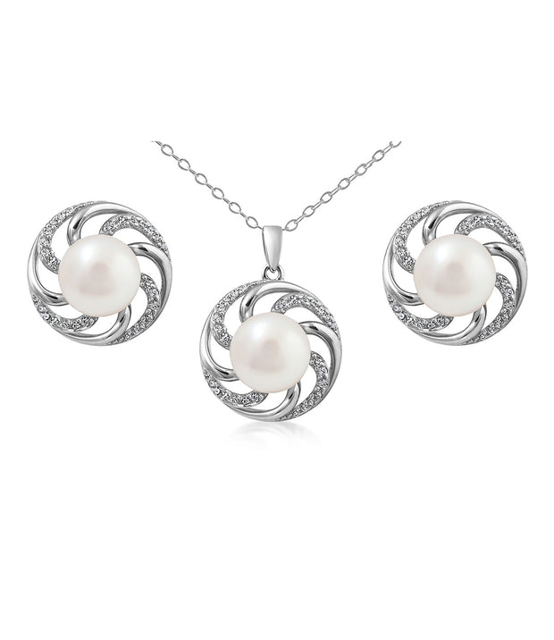 Paradis Pearl Necklace & Earrings Set
