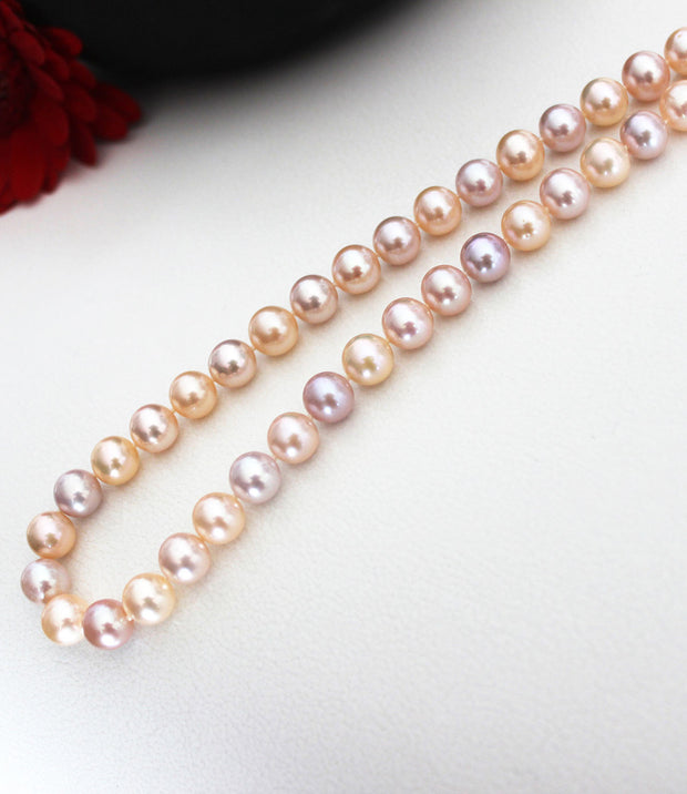 Pastel coloured freshwater pearl necklace_3