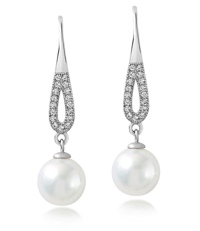 Silhouette Freshwater Pearl Dangle Earrings