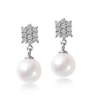 Vintage Akoya Pearl Drop Earrings