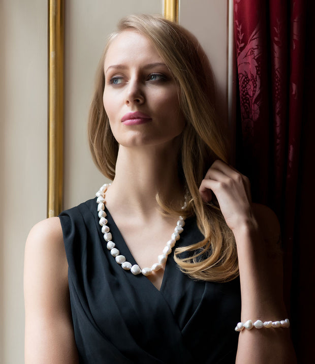 White Keshi Baroque Pearl Necklace_1