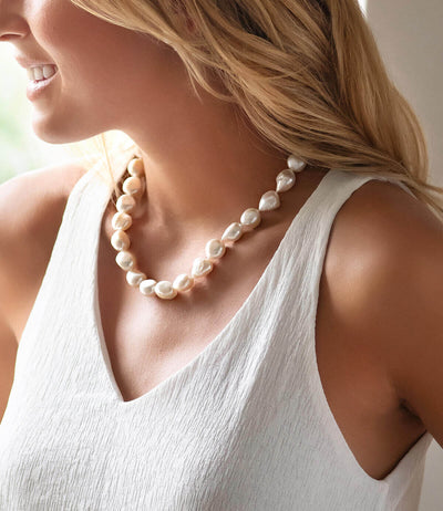 White Keshi Pearl Necklace_2
