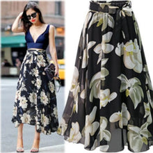 Load image into Gallery viewer, Floral chiffon skirt