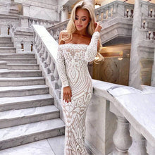 Load image into Gallery viewer, Sizzling White Maxi Dress
