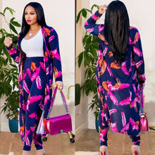 Load image into Gallery viewer, Kimono Coat + Bodycon Pants