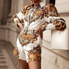 Load image into Gallery viewer, Gold & White Playsuit