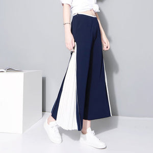 Wide Leg Chiffon High Waist Split Pleated Long Trousers