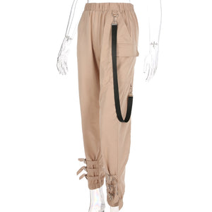 Khaki Casual Cargo Pants