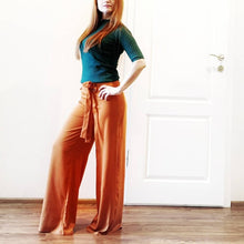 Load image into Gallery viewer, Orange High Waist Palazzo