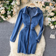 Load image into Gallery viewer, Long Sleeve Denim Dress