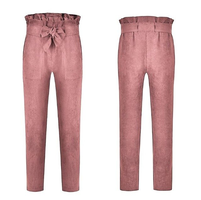 High Waist Bow Trousers