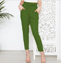 Load image into Gallery viewer, High Waist Bow Trousers
