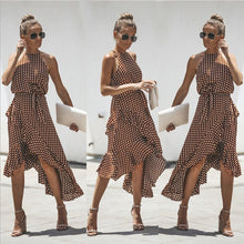 Load image into Gallery viewer, Summer High Waist Casual Ruffles Dress