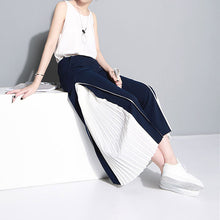 Load image into Gallery viewer, Wide Leg Chiffon High Waist Split Pleated Long Trousers