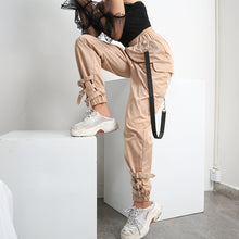 Load image into Gallery viewer, Khaki Casual Cargo Pants