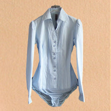 Load image into Gallery viewer, Elegant Shirt Bodysuit