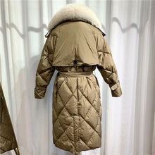 Load image into Gallery viewer, Natural Fur Long Duck Down Parka