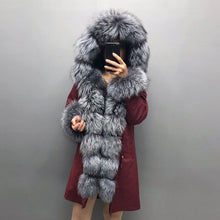 Load image into Gallery viewer, Real Fox fur fur collar hooded fur parka