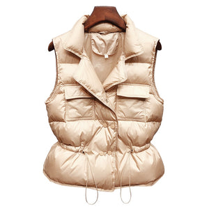 Ultra Light Down Vest Women Short Vest