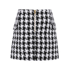 Load image into Gallery viewer, Houndstooth Mini Skirt