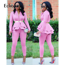 Load image into Gallery viewer, Ruffles Pencil Pants Suit