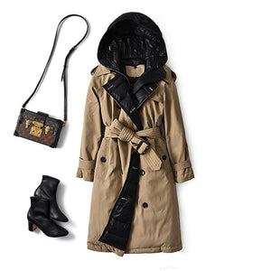 British Trench Coat Winter (White Duck Down)