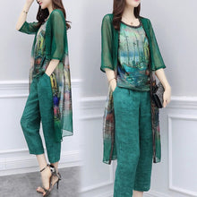Load image into Gallery viewer, Chiffon Top Pants Suit